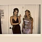 Selena Gomez Black Dress at Julia Michaels's Birthday Party