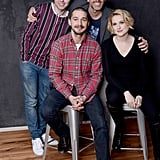 The Necessary Death of Charlie Countryman star James Buckley, director Fredrik Bond, Shia LaBeouf, and Evan Rachel Wood looked happy promoting the film together.