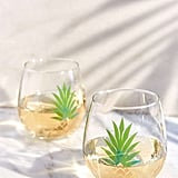 Urban Outfitters Metallic Pineapple Stemless Wine Glass Set