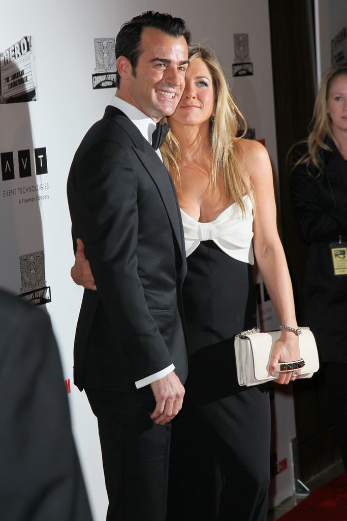 Justin Theroux and Jennifer Aniston stepped out together in LA for the American Cinematheque Awards.
