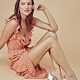 For Love & Lemons Natalia Dot Midi Dress