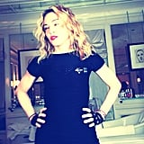 Madonna was all decked out in Nike Pro gear when she shared a demo of a Hard Candy butt exercise.