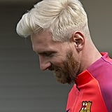 Lionel Messi's Blond Hair July 2016
