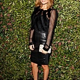 The fashion front-runner donned head-to-toe Ferragamo at Chateau Marmont in January 2013.