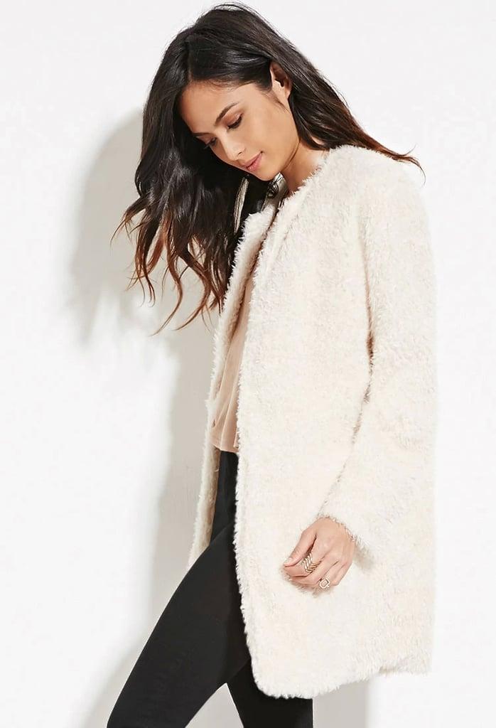 Forever 21 Faux Fur Longline Jacket ($40)