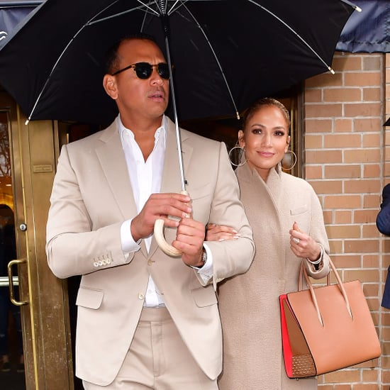 Jennifer Lopez and Alex Rodriguez Wearing Matching Sneakers