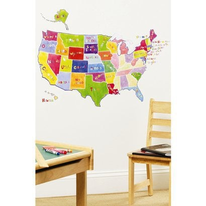 US State Map Peel & Stick ($20)