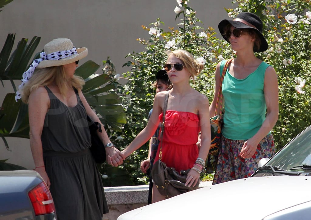 Vanessa Paradis and Lily-Rose Depp wore bright colors during their stay in France.