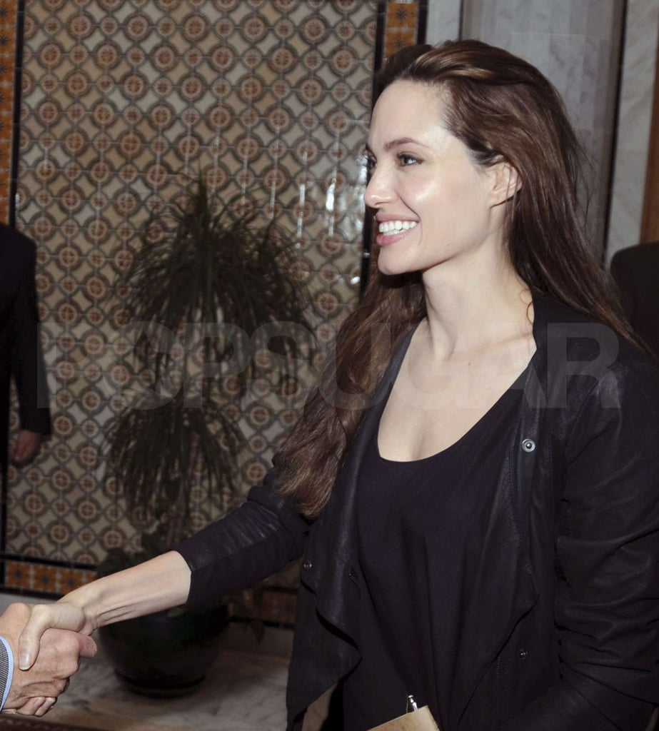 Angelina Meets Tunisian Foreign Minister and Arrives Back Home in LA
