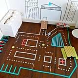 Kid Crafts: Washi Tape Car Track