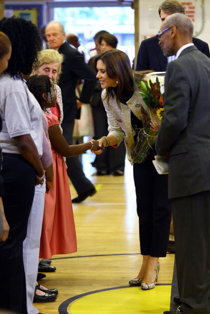 Princess Mary visits the Riis Neighborhood Settlement House on Oct. 23.