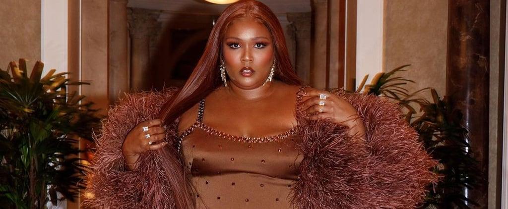 Lizzo's Brown Dolce & Gabbana Dress For Her Vegas Birthday