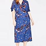 Rachel by Rachel Roy Floral Print Wrap Midi Dress