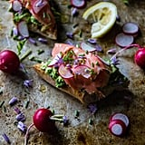 Smoked Salmon and Radishes
