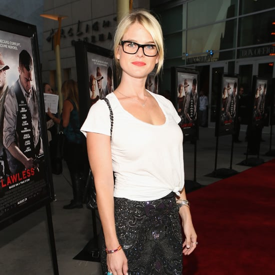 Alice Eve Wearing Embellished Skirt