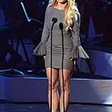 Britney Spears was on stage at the Grammy salute to Whitney Houston in LA.