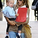 Tabitha Broderick helped Sarah Jessica Parker carry some papers.