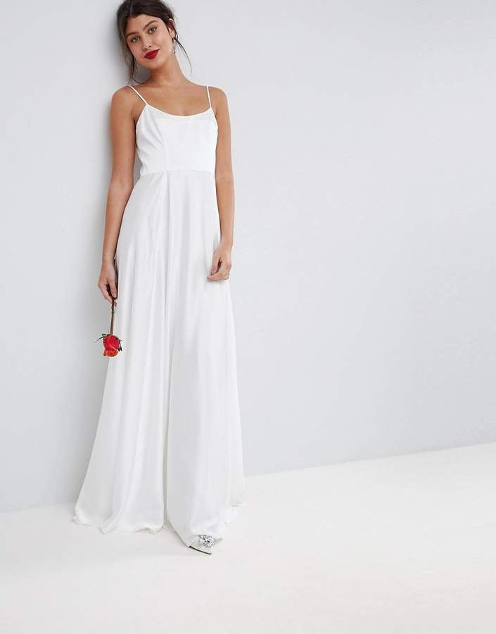 Asos Bridal Maxi Dress With Square Neck Wedding Dresses Under 100