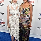 She Meet Up With Amanda Seyfried on the Blue Carpet