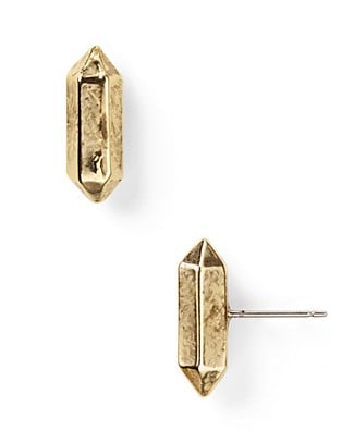 Low Luv By Erin Wasson Metal Crystal Studs ($38)