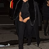 Kim Kardashian and the Rest of the Kardashian-Jenner Clan Stylishly Step Out in NYC