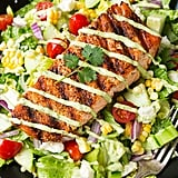 Mexican Grilled Salmon Salad With Avocado Greek Yoghurt Ranch Dressing