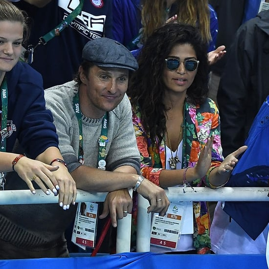 Matthew McConaughey and Camila Alves at Olympics August 2016