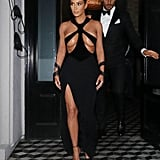 Kim Kardashian Wearing a Vintage Thierry Mugler Gown