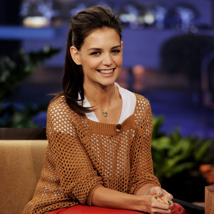 Yoga Pants Katie: Katie Holmes Pictures In Red Leather Pants On Tonight Show