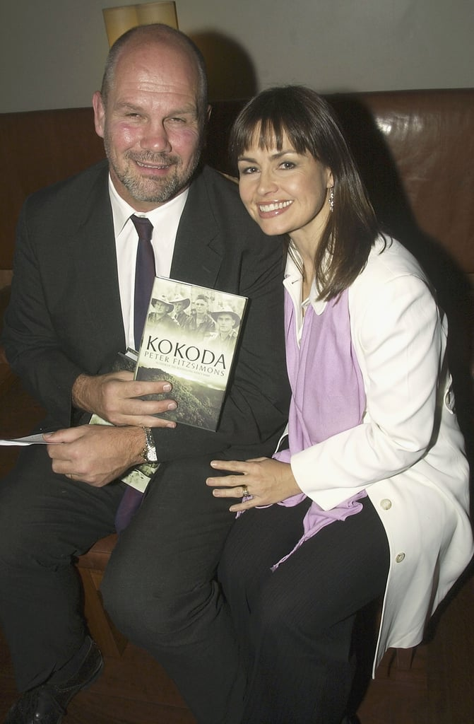 At the launch of husband Peter FitzSimons' book Kokoda in June 2004.