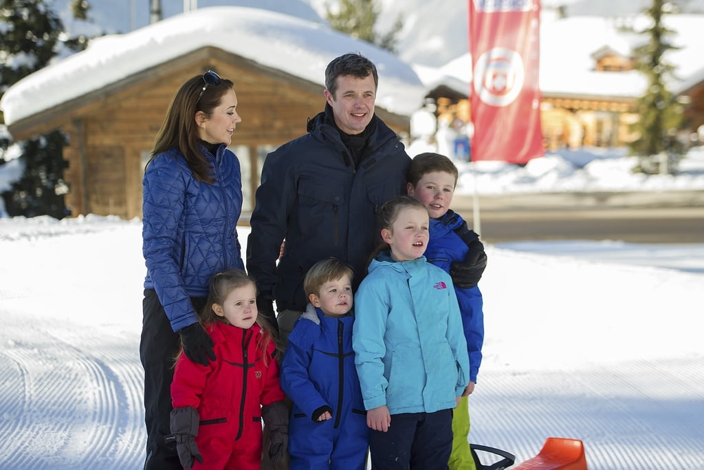 Princess Mary and Prince Frederik Family Ski Trip Pictures