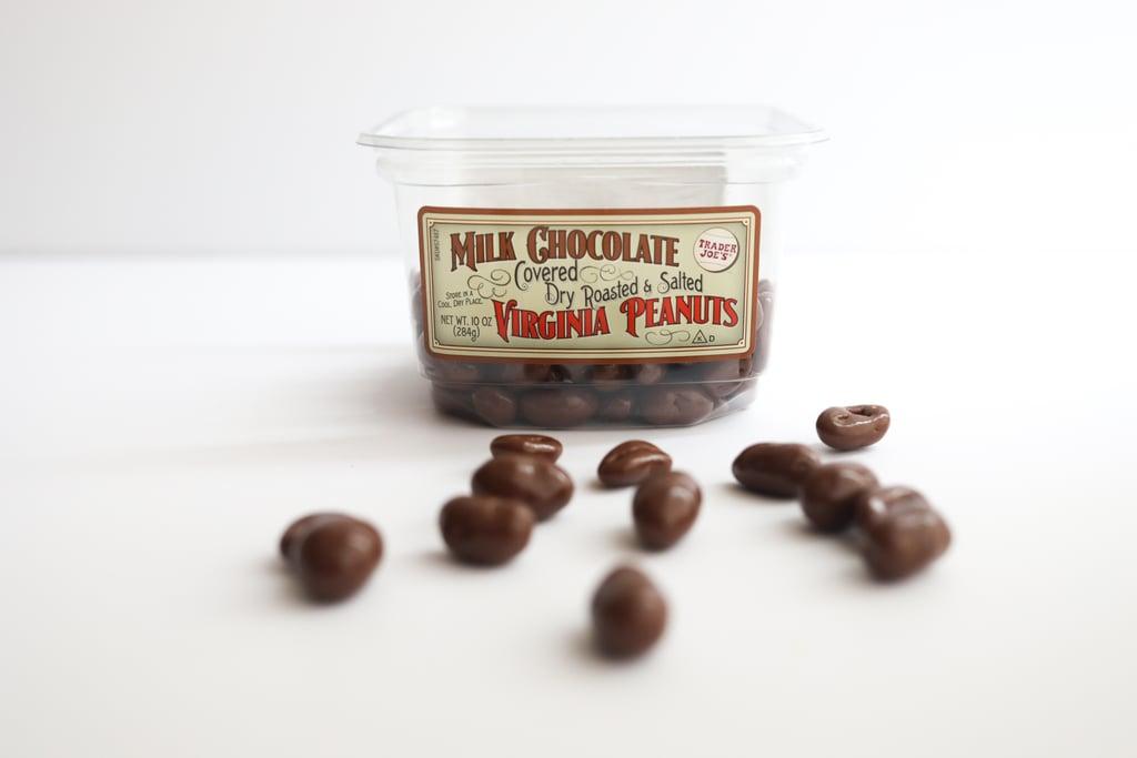 Milk Chocolate Covered Dry Roasted & Salted Virginia Peanuts ($4)