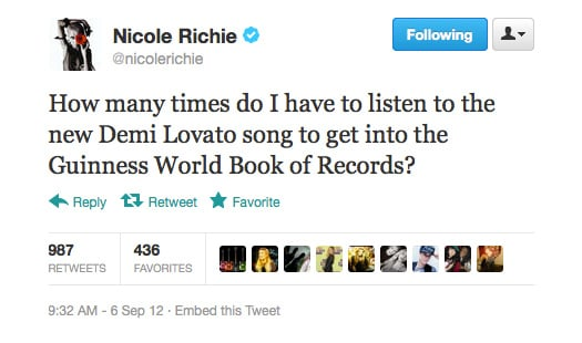 Demi Lovato has a massive fan in Nicole Richie!