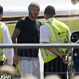 David Beckham said hi to the ground crew.