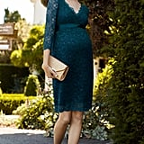 Tiffany Rose Chloe Maternity Lace Dress in Dragonfly ($240)