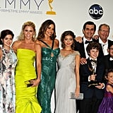 The full Modern Family cast took a photo after their big Emmy win.