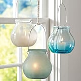 Sea Glass Hanging Votive Cups ($20)
