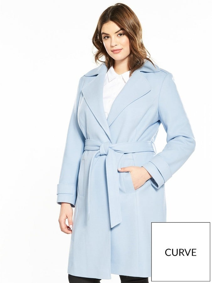 V By Very Curve Wrap Belted Coat