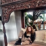 Natasha Lyonne lounges off set. Source: Instagram user oitnb