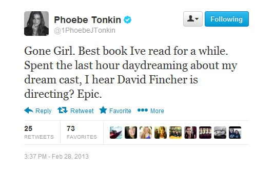 Phoebe joins the Gone Girl fan club.