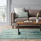 Tufted Blocks Lines Geometric Area Rug