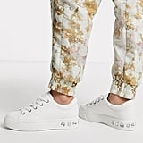 Bershka Gem Detail Lace Front Sneakers