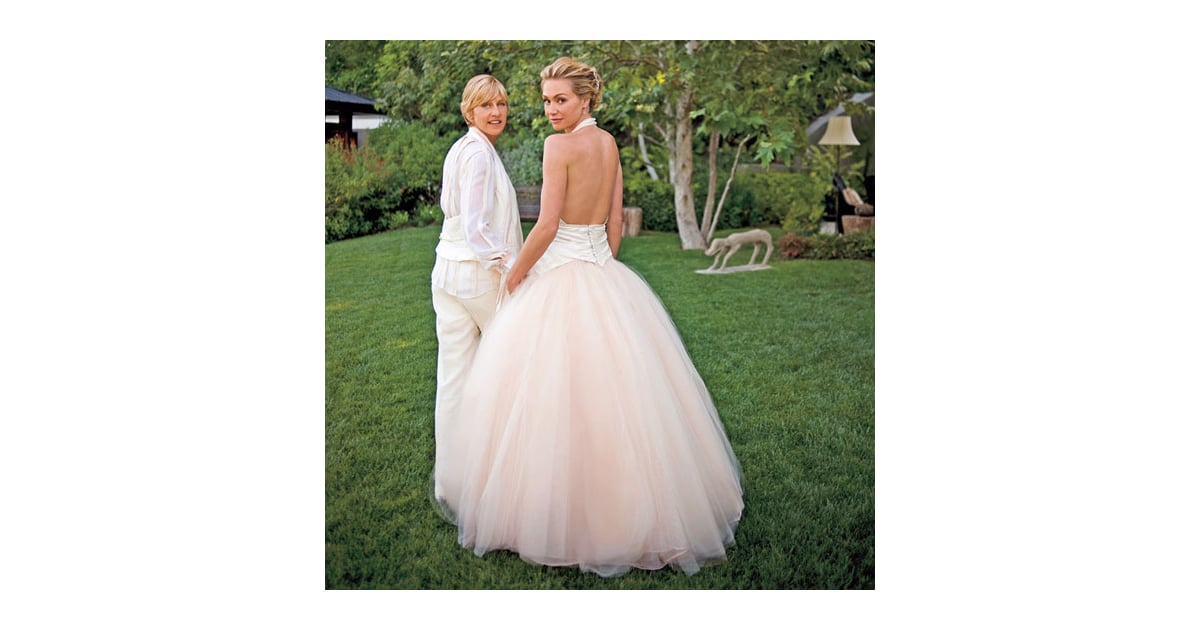 Ellen degeneres and portia de rossi said i do at their for Portia de rossi wedding dress