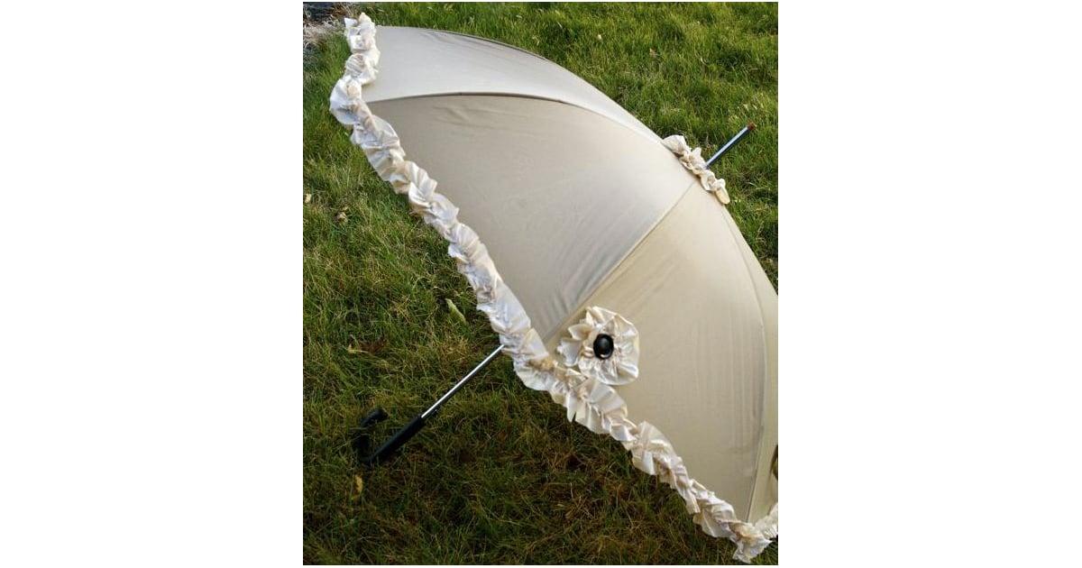 Umbrella With Ruffles Dollar Store Item Diy Projects