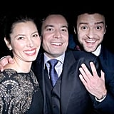 Jessica and Justin hung out with Jimmy Fallon during a November 2011 event in LA.