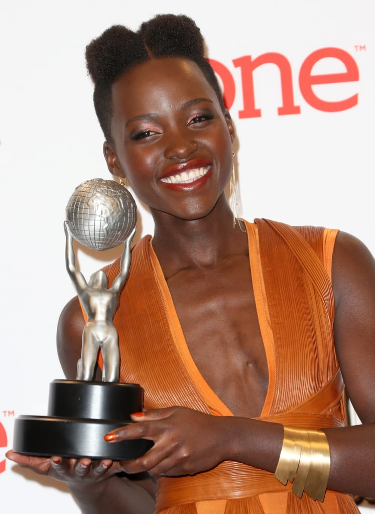 And posed with her trophy.