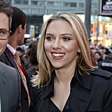 Scarlett Johansson was all smiles at the premiere.