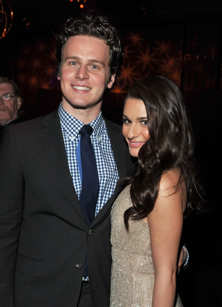 Glee's Jonathan Groff congratulated Lea Michele on her new film.
