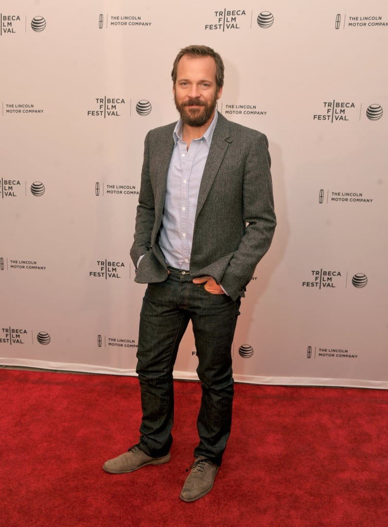 Peter Sarsgaard walked the red carpet solo at the premiere of Night Moves.
