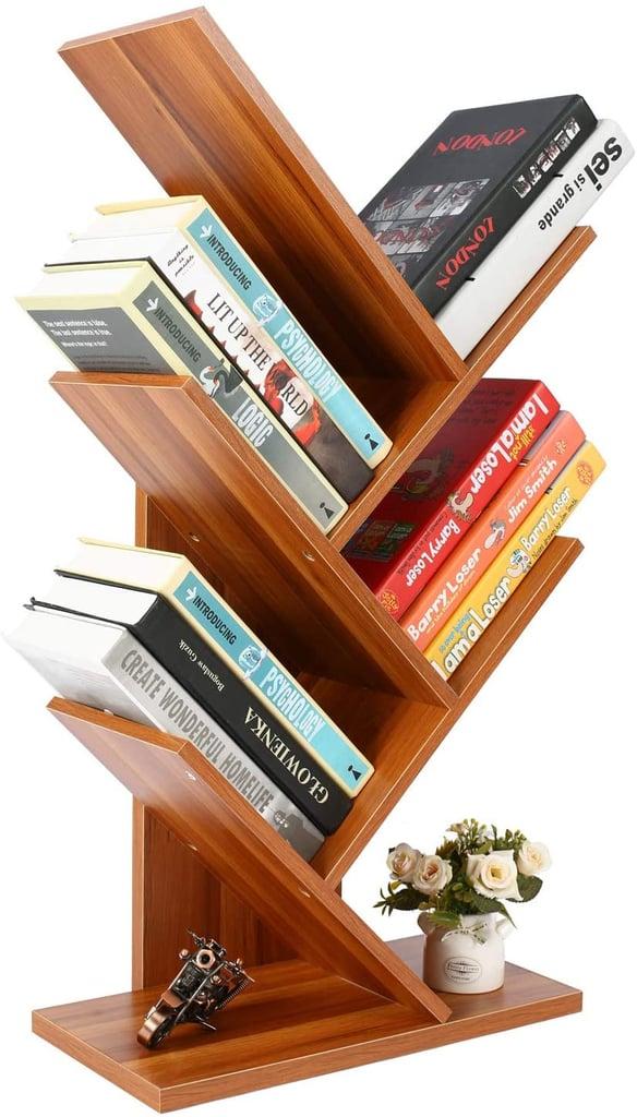 Homebi 5 Shelf Bookshelf Tree Bookcase Best Organisers For Books